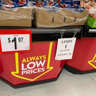 Walmart Cherries$1.9...