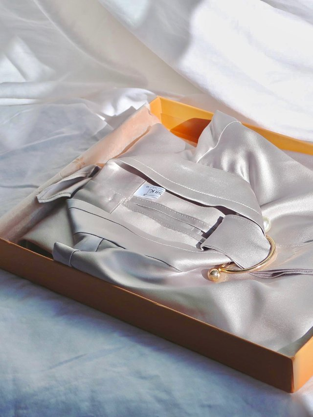 众测开箱|Lilysilk真丝枕套+衬衣