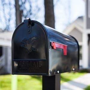 Gibraltar Mailboxes Elite 大容量黑色信箱
