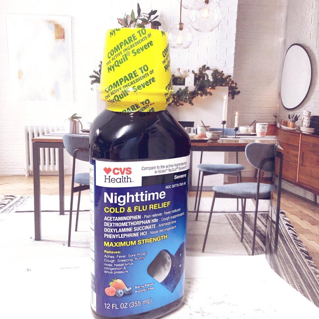 莓果口味的药水~夜间缓解流感不适