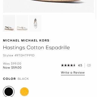 MK渔夫鞋$59