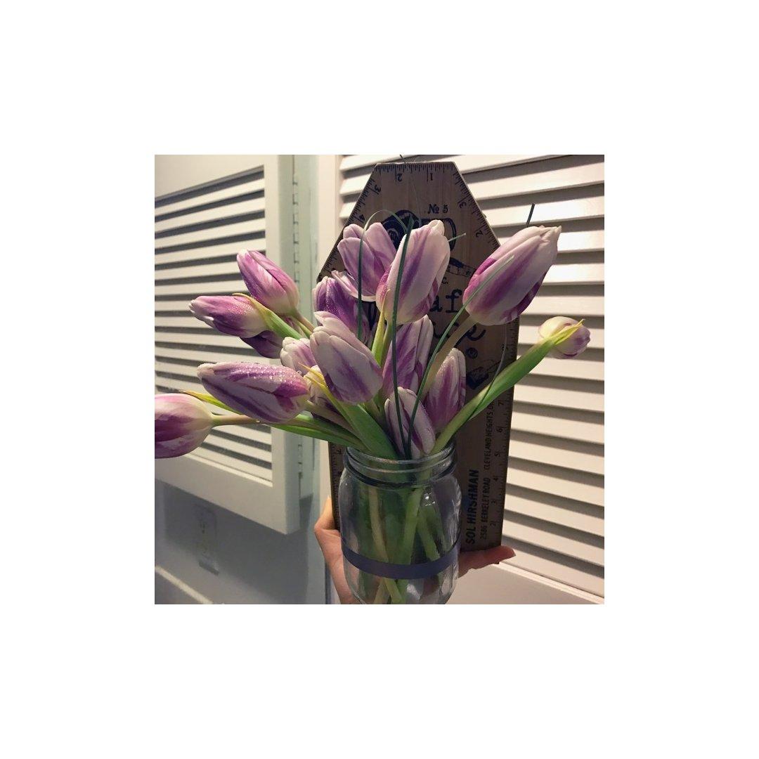 DIY花瓶+情人节男朋友送的花。不...