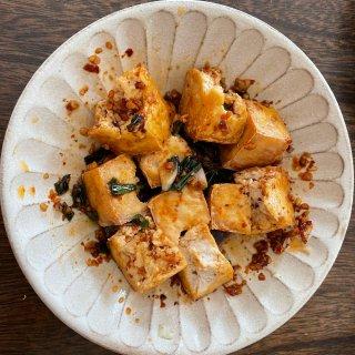 空气炸锅 低脂又好吃的烤豆腐...