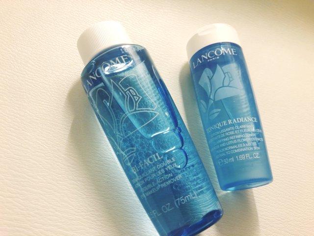 兰蔻两款蓝色神器——卸妆+保湿