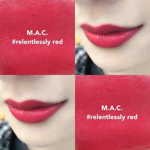 MAC家relentlessly red,妩媚的极度哑光