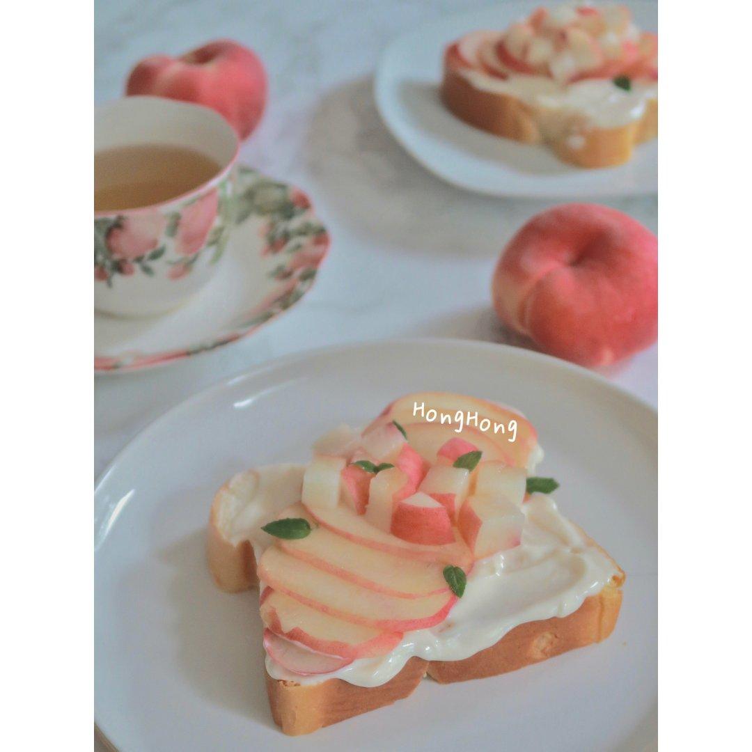 ☀️ 美丽的食物🍑桃子酸奶吐司🍞