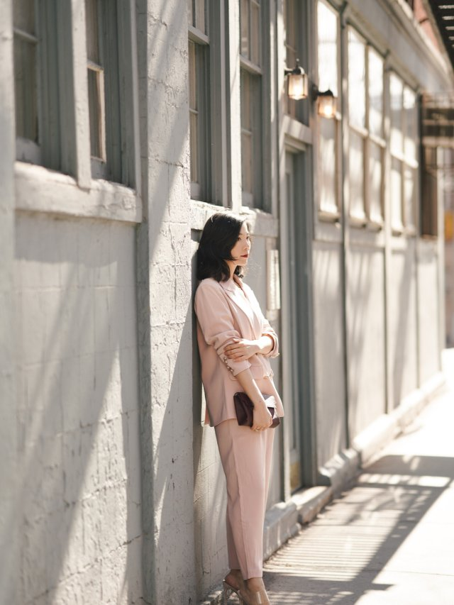 【小郑穿搭】 粉色西装穿起来
