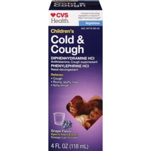 CVS Health Children's Cold & Cough Nighttime Liquid Grape | CVS