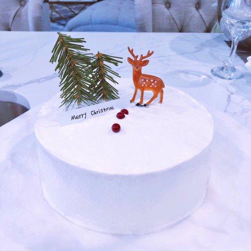 简单又大方的圣诞蛋糕,很耐看有没有!