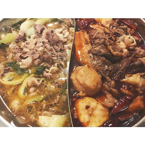 Yzakka不鏽鋼鴛鴦鍋吃和牛火鍋🐂🥬🍲🍹