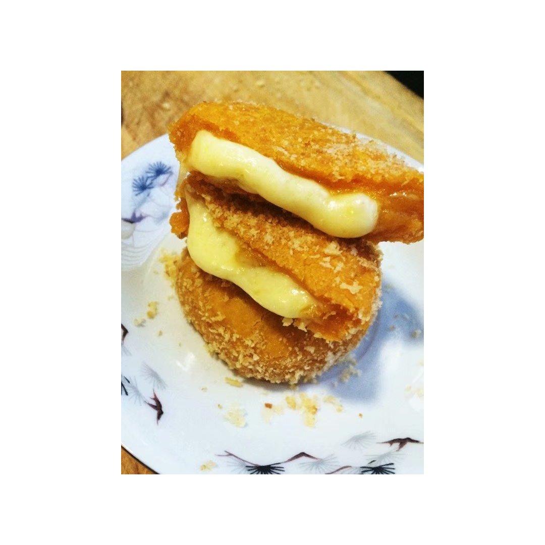 爆浆糯米南瓜饼