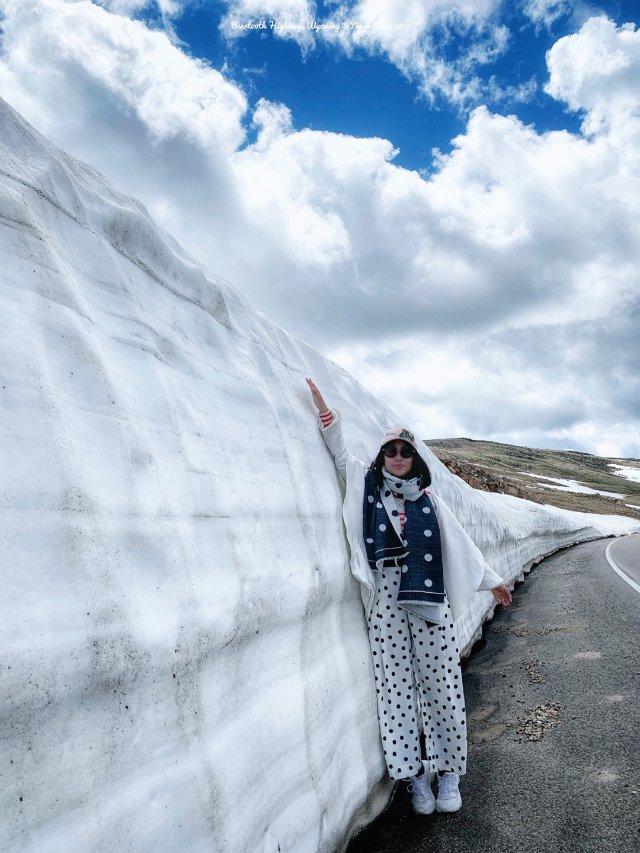 黄石-熊牙公路2   🌞7月的冰雪...