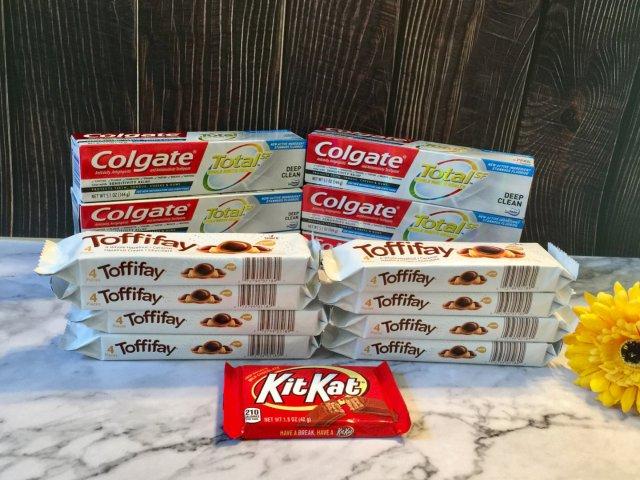 免费牙膏+巧克力糖来两单