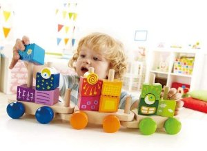 $17.12Hape Fantasia Building Blocks Toddler Push and Pull Train Set & More @ Amazon
