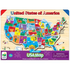 $8The Learning Journey Lift & Learn USA Map Puzzle