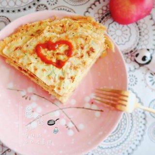 早餐吃什么//香煎角瓜鸡蛋饼来一打...
