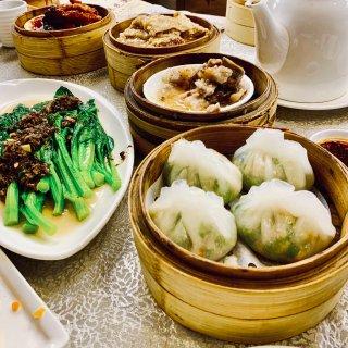 潮州粉果,榄菜菜心,豆豉排骨,支竹卷