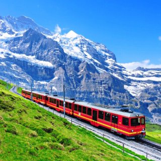 带着君君去旅行,瑞士少女峰,这地方超适合拍照