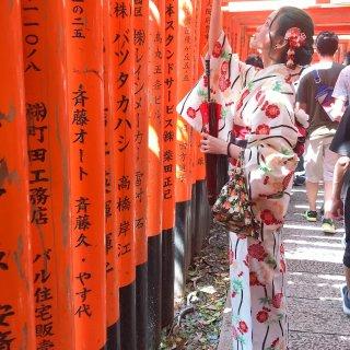 日本之旅,和服,最美侧颜杀