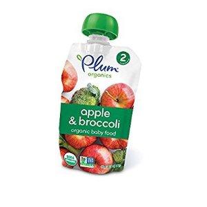 $10Plum Organics 2段 苹果西兰花泥 12袋装