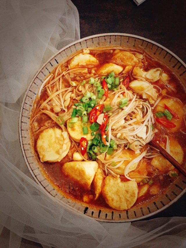 ✨下饭神器 | 红烧金针菇玉子豆腐✨