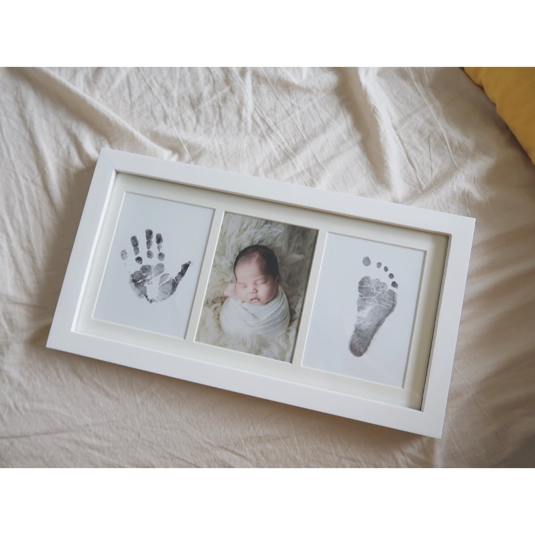 微众测|宝宝不粘手印台手模脚模相框