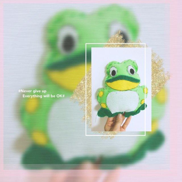 一只丑萌的大青蛙🐸,来自儿子的手工...