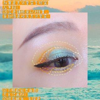 教程➡️海边日出灵感眼妆...