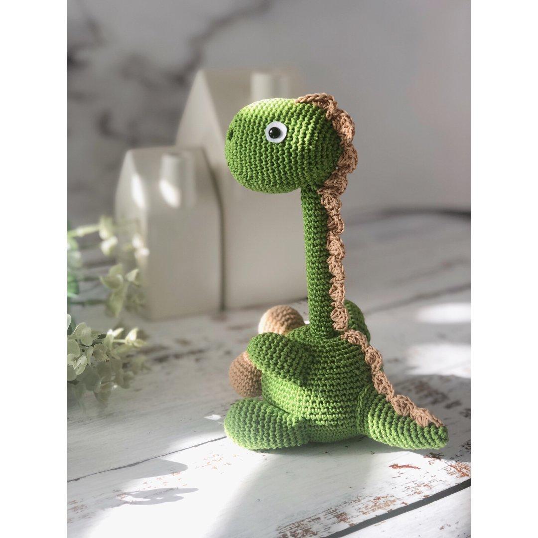 钩针 萌系动物笔插-恐龙