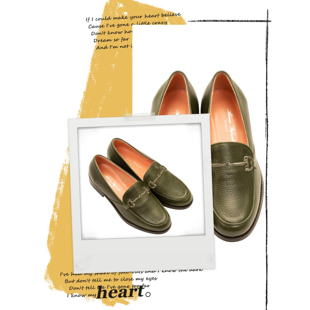 Victoria Olive - Deer And Kid Leather Loafers   MIRTA