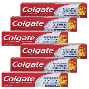 $7.58Colgate Baking Soda and Peroxide Whitening Toothpaste - 8 ounce (6 Pack)