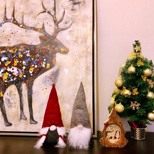 IKEA今年这对圣诞老人小摆件太阔...