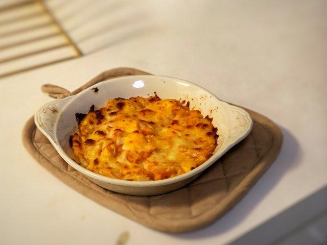 冬日囤膘|快手美食|芝士焗红薯🍠