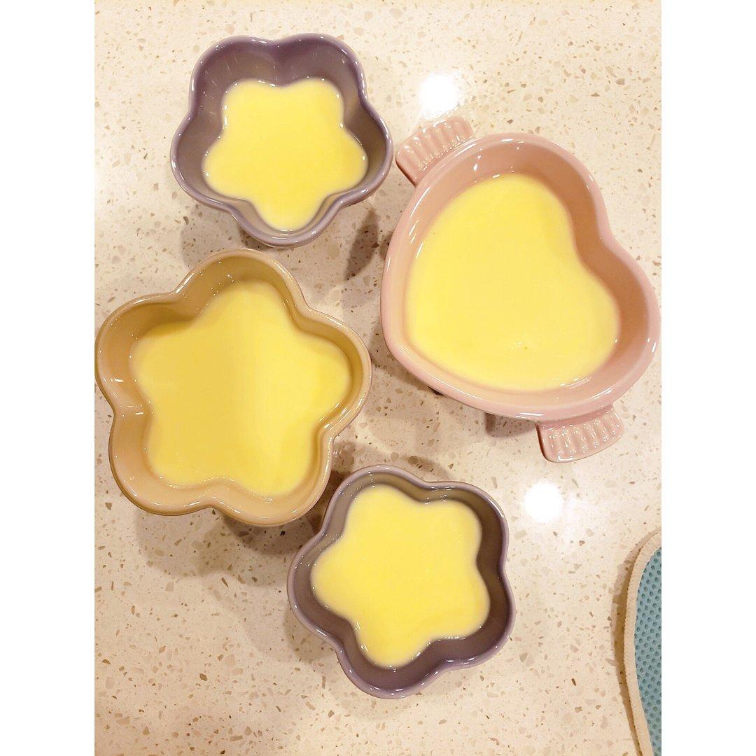 七夕飯後甜點   鮮奶燉蛋