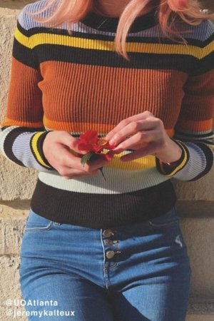 UO Keira Crew-Neck Pullover Sweater | Urban Outfitters