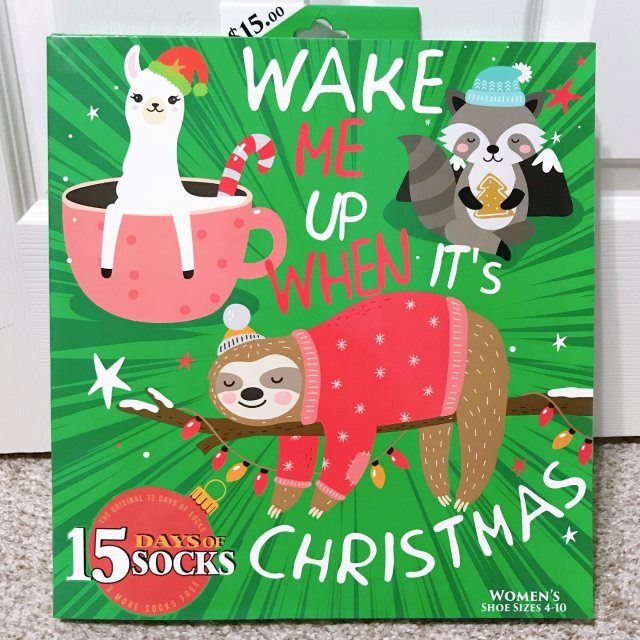 圣诞礼物买这个!袜子倒数日历