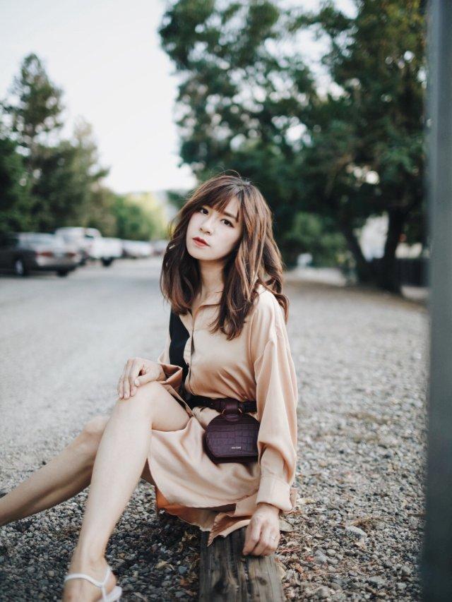 CC玩转衣橱|衬衫裙➕腰包极简穿搭法