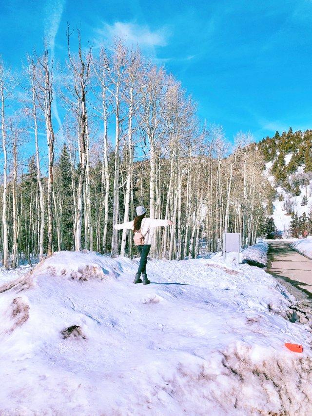 冬天该有的样子🎿玩雪☃️