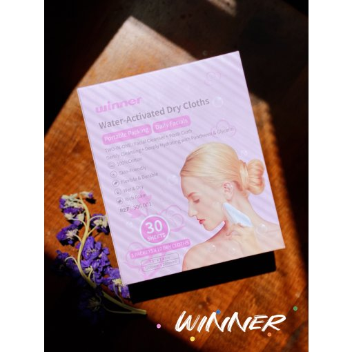 【winner】二合一氨基酸洁面巾 旅行好伙伴