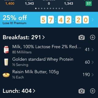 减脂分享 运动计划,记录净卡路里和蛋白质...