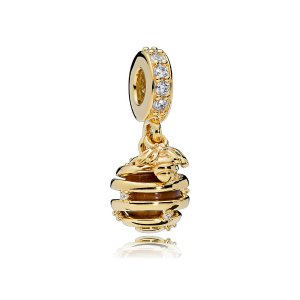 Sweet As Honey Charm, PANDORA Shine™, Tiger Eye & Clear CZ |