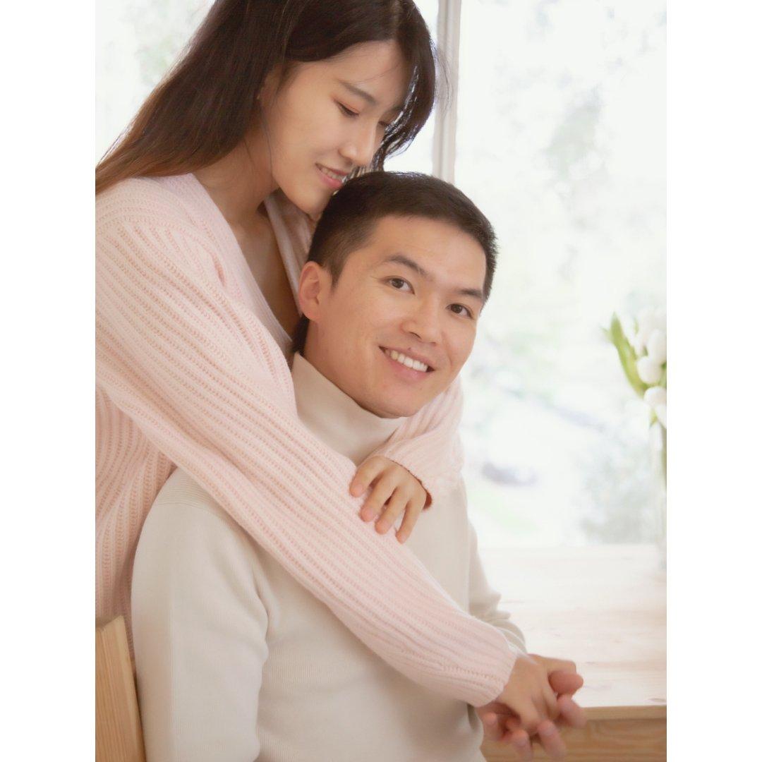 宅家拍大片 情人节自拍韩式情侣照,...