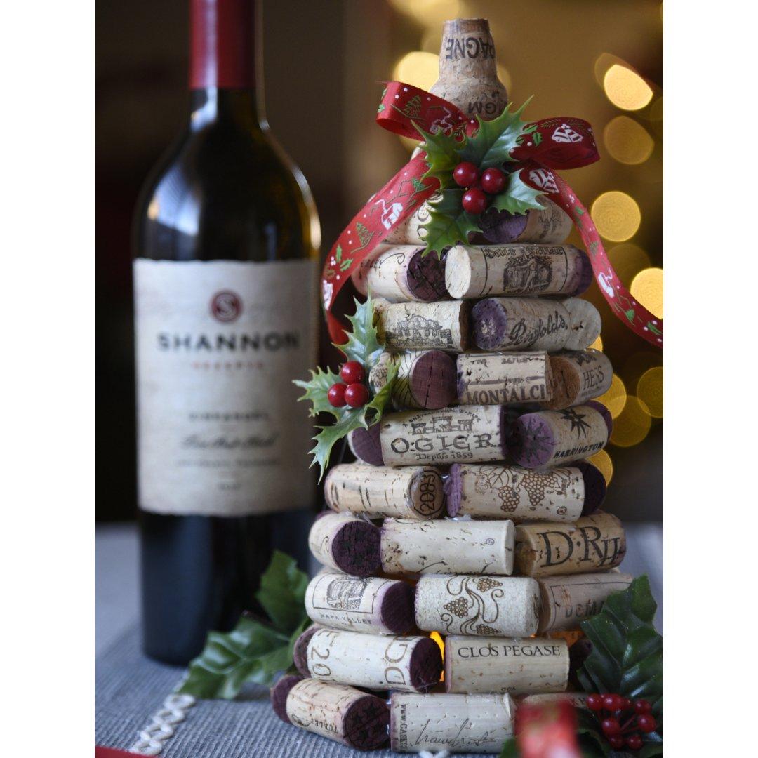 圣诞装饰|红酒塞做的酒瓶装饰🍾
