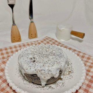 微波炉两分钟黑芝麻蛋糕,生酮减脂...