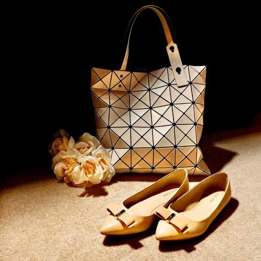 包包鞋子一个色4⃣️:淡奶黄色系