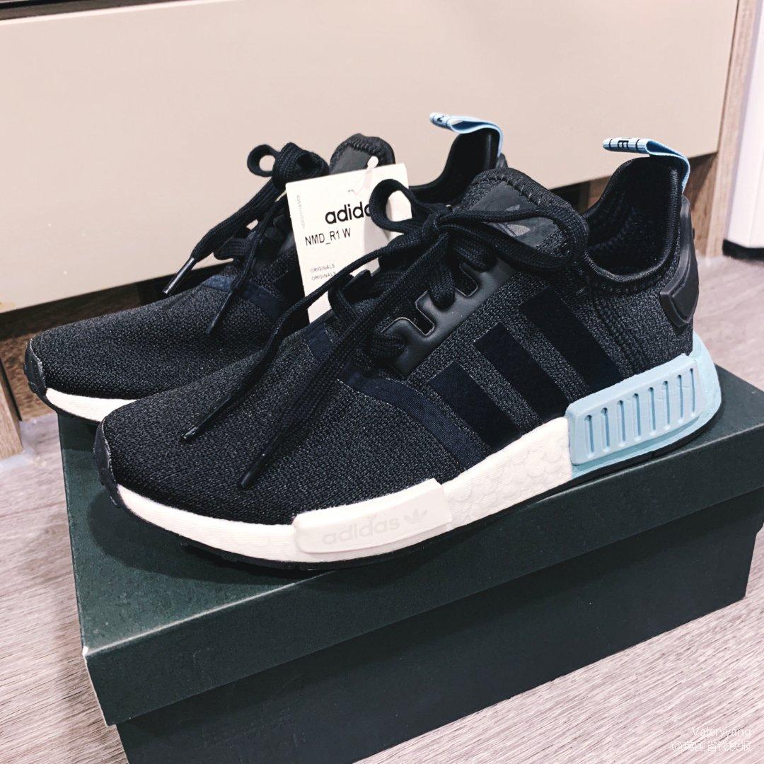 adidas_nmd蓝黑色
