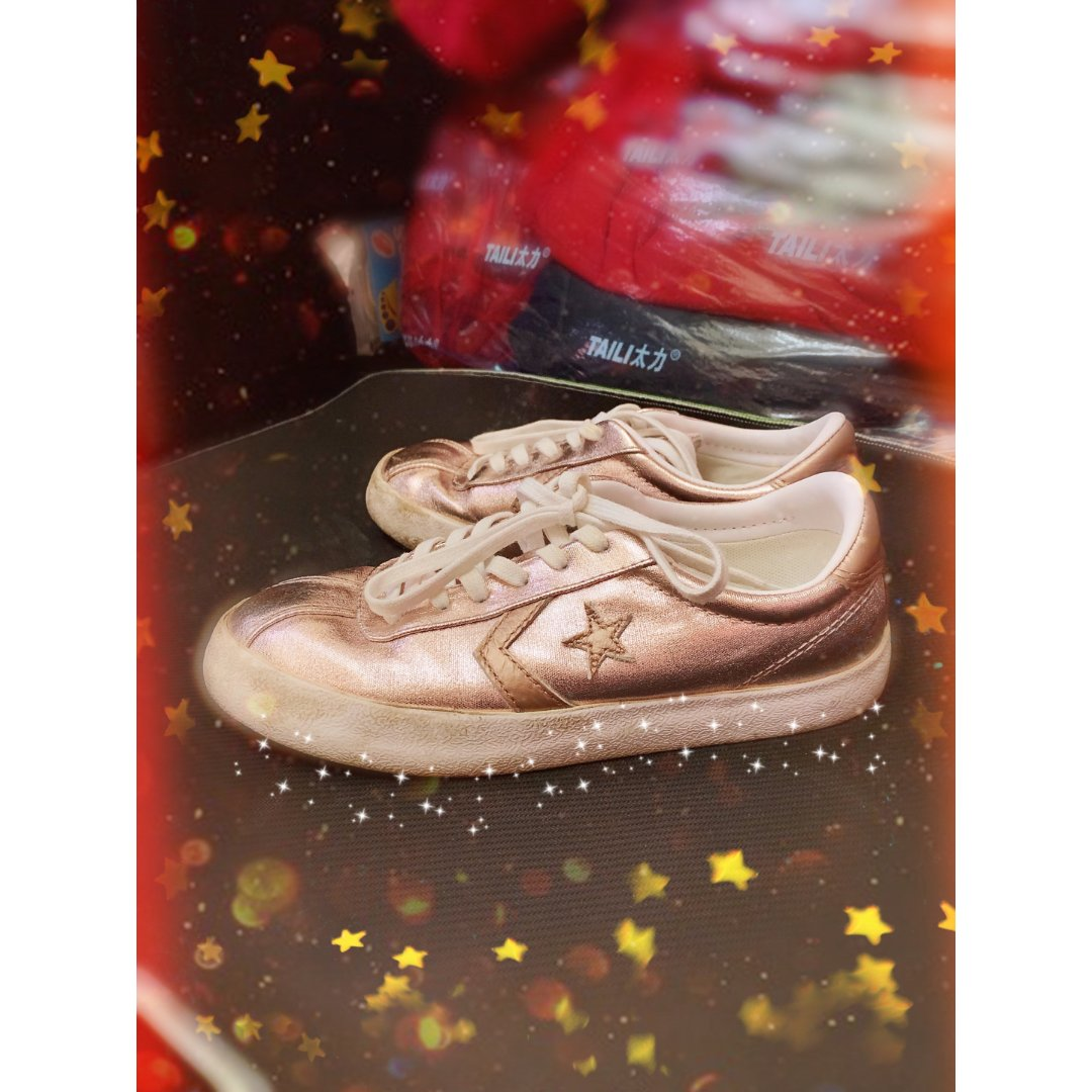 玫瑰金板鞋!