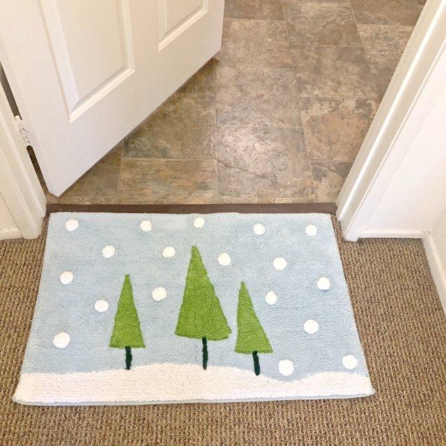 适合冬天用的浴室脚垫🎄
