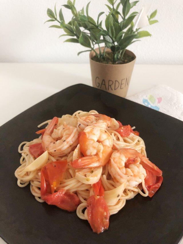 我最爱海鲜意大利面之一【鲜虾意大利面】