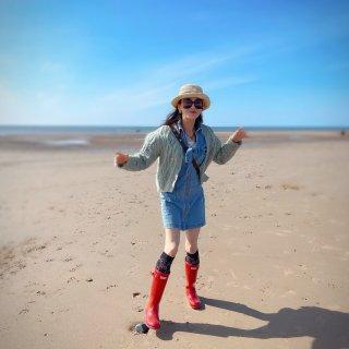 Wales的Cleveleys沙滩人少景...